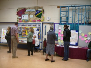 The Feniton Neighbourhood Plan roadshow in full swing on Saturday 21st March 2015